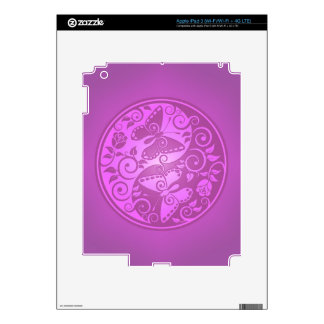 Yin Yang Butterflies, purple Skins For iPad 3