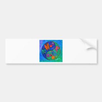 Yin Yang Butterfly Bumper Sticker