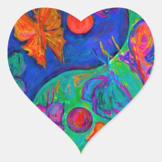 Yin Yang Butterfly Heart Sticker