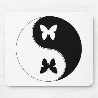 Yin Yang Butterfly Mousepads