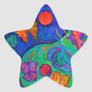 Yin Yang Butterfly Star Sticker