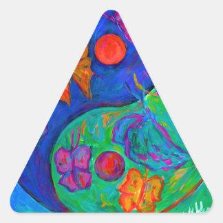 Yin Yang Butterfly Triangle Sticker