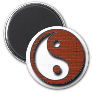 Yin Yang by Shirley Taylor 2 Inch Round Magnet