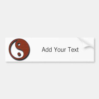 Yin Yang by Shirley Taylor Bumper Sticker