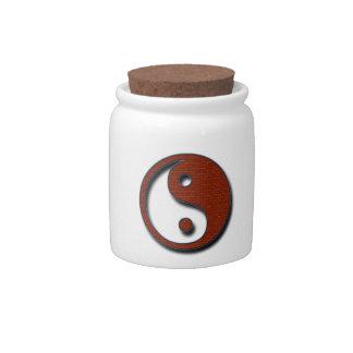 Yin Yang by Shirley Taylor Candy Jar
