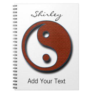 Yin Yang by Shirley Taylor Notebook