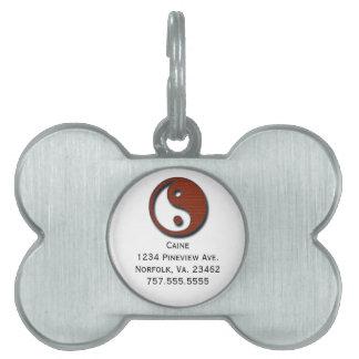 Yin Yang by Shirley Taylor Pet ID Tag