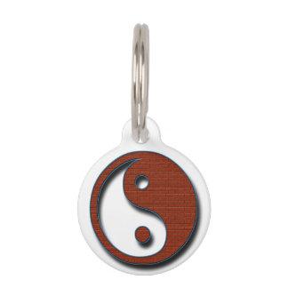 Yin Yang by Shirley Taylor Pet Name Tag