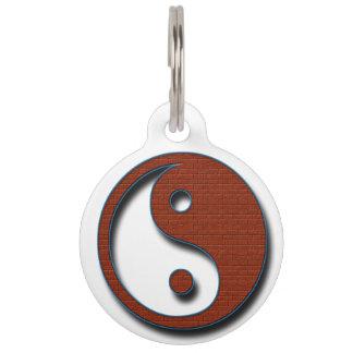 Yin Yang by Shirley Taylor Pet Tag