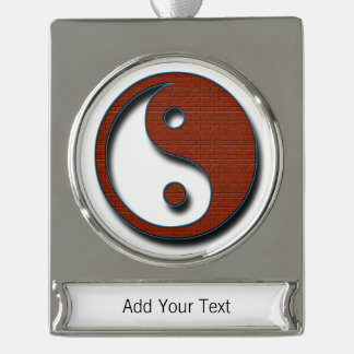 Yin Yang by Shirley Taylor Silver Plated Banner Ornament