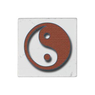 Yin Yang by Shirley Taylor Stone Magnet