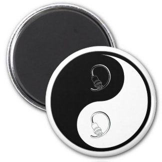 Yin Yang Cable 2 Inch Round Magnet
