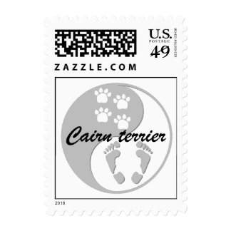 yin yang cairn terrier stamp