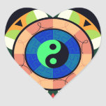 ¡Yin Yang! Calcomania De Corazon