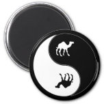 Yin Yang Camel 2 Inch Round Magnet