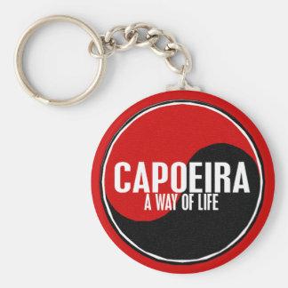 Yin Yang Capoeira 1 Basic Round Button Keychain