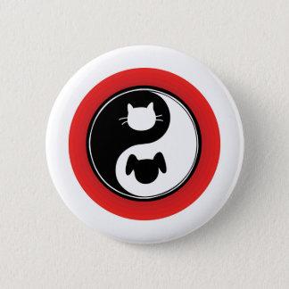 Yin Yang Cat Dog Button