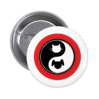 Yin Yang Cat Dog Buttons