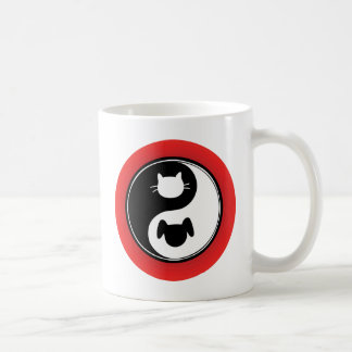 Yin Yang Cat Dog Coffee Mug