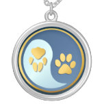 Yin Yang Cat-Dog Paws  Necklace