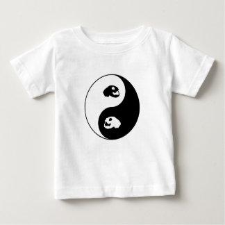 Yin Yang Cat Skull Baby T-Shirt