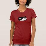 yin yang cat tee shirts