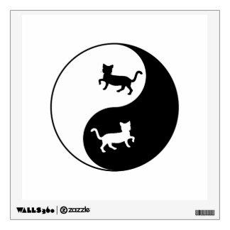 Yin Yang Cat Wall Sticker