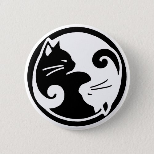 Yin Yang Cats Button