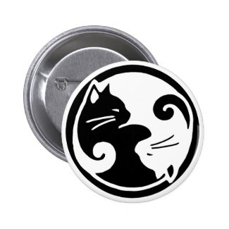 Yin Yang Cats Button
