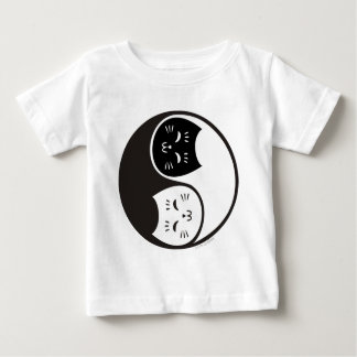Yin Yang Cats in Black and White Baby T-Shirt