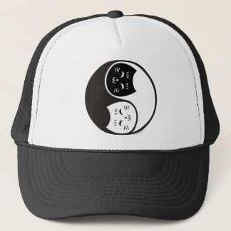 Yin Yang Cats in Black and White Trucker Hat