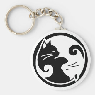 Yin Yang Cats Key Chain