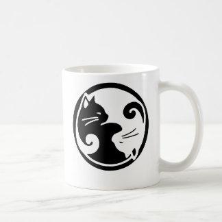 Yin Yang Cats Classic White Coffee Mug