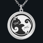 """Yin Yang Cats Necklace<br><div class=""""desc"""">Asian-inspired design features two ying yang cats on this beautiful necklace!</div>"""