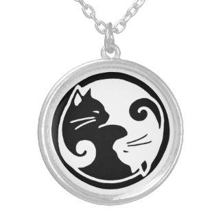 Yin Yang Cats Necklace