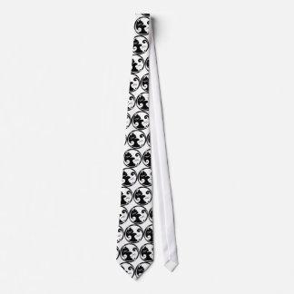Yin Yang Cats Necktie (or Tie Belt)