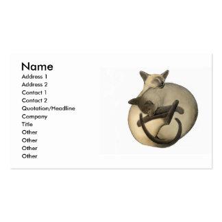 Yin Yang Cats Profile Card Business Card Templates