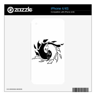 Yin Yang Cats Decal For iPhone 4S