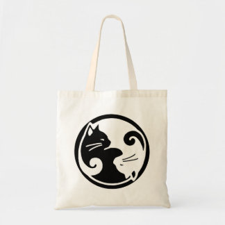 Yin Yang Cats Tote Bag