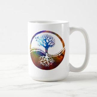 Yin Yang Celestial Tree by Missi Lynn Boness Coffee Mugs