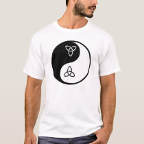 Yin Yang Celtic Tri-Knotwork T-Shirt