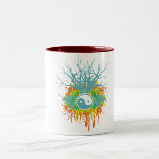 Yin Yang Chaos Two-Tone Coffee Mug