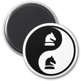 Yin Yang Chess 2 Inch Round Magnet