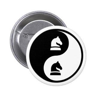 Yin Yang Chess Pinback Buttons