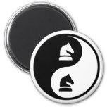 Yin Yang Chess Magnets