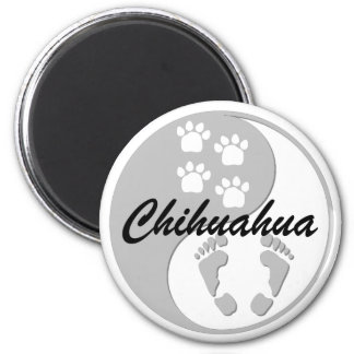 yin yang chihuahua refrigerator magnet