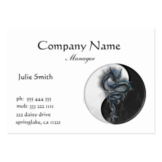 Yin Yang Chinese Dragon Business Card