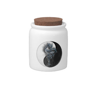 Yin Yang Chinese Dragon Candy Jar