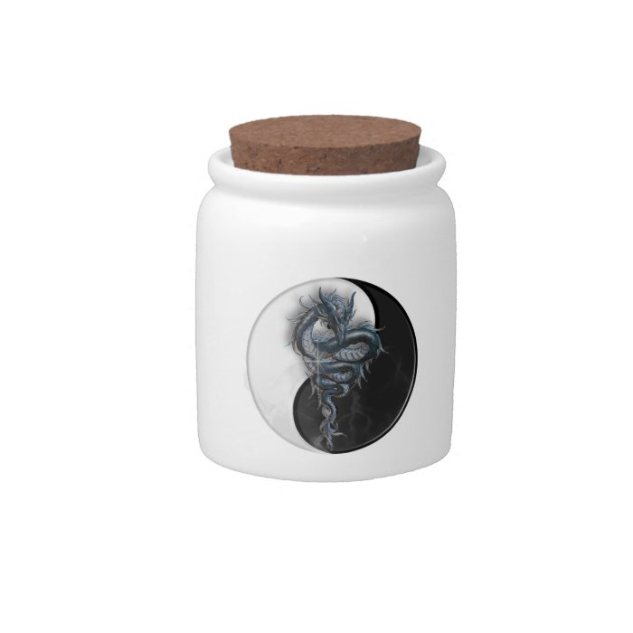 Yin Yang Chinese Dragon Candy Jar
