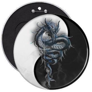 Yin Yang Chinese Dragon Colossal 6 Inch Badge Button